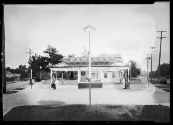 Pan American service station, Southern California, 1925