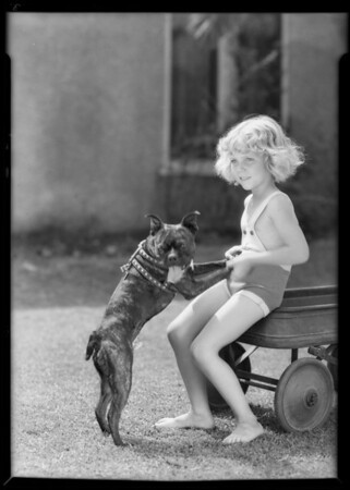 Child in sun suit, Southern California, 1931