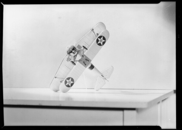"""Airplane for advertisement, """"Physical fitness for Air Service"""", Southern California, 1933"""