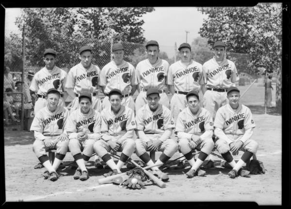 Baseball team, Ivanhoe Knights, Southern California, 1931