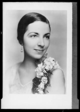 """Helene Hill"" portraits, Southern California, 1933"