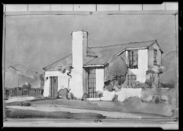 Sketches, Walter H. Leimert, Southern California, 1928