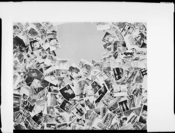 Christmas card negatives, Southern California, 1932