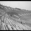 Los Angeles Coliseum, painting of seats, Los Angeles, CA, 1925