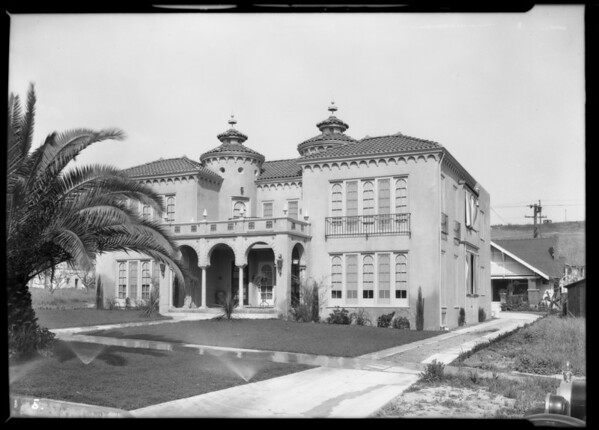Bureau of Power & Light, National Biscuit Company, home-large castle, Southern California, 1926