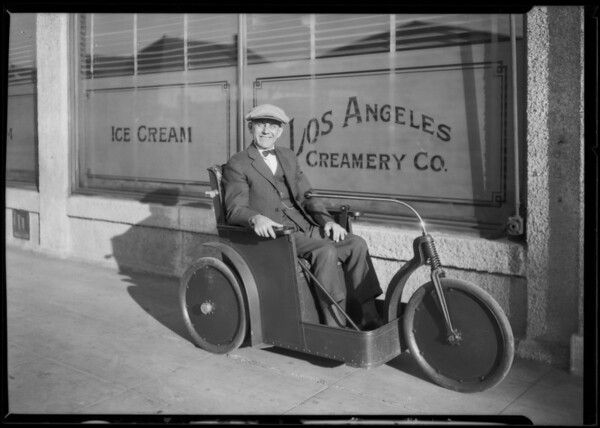 Motorized chair, Southern California, 1926