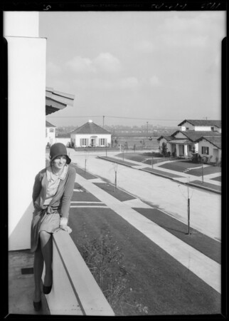 Model home show publicity for Clarke of Herald, Southern California, 1930