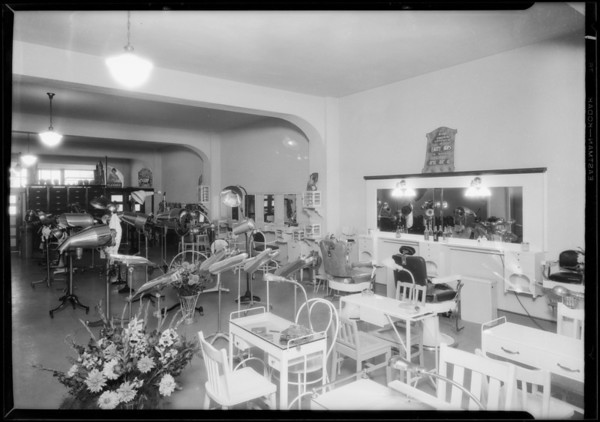 Opening of Paris Hair Co., 739 South Broadway, Los Angeles, CA, 1927