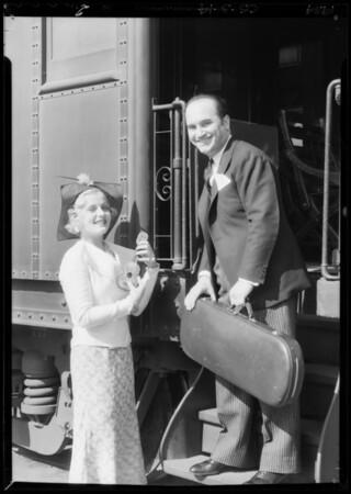 Arrival of Rubinoff, Southern California, 1934