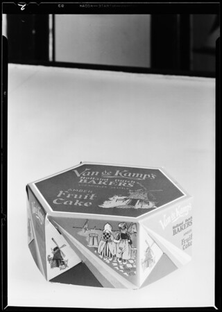 Cakes, cartons, etc., Southern California, 1931