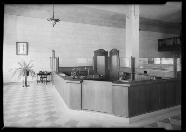 Wilmington branch of Citizens Trust and Savings, Southern California, 1927