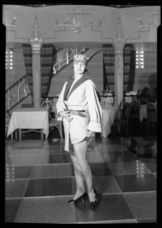 Fashion show at Mayfair, 1256 West 7th Street, Los Angeles, CA, 1927