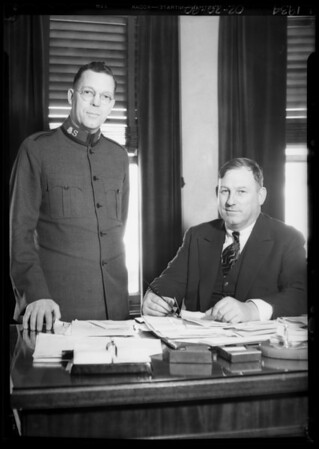 Supervisor Quinn and Mr. Layman, Southern California, 1934