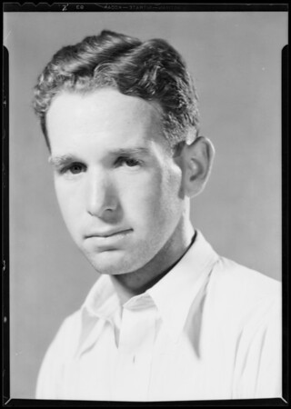 Clay Mahoney, tennis champ, Southern California, 1931