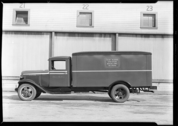 Cigar truck, Southern California, 1932