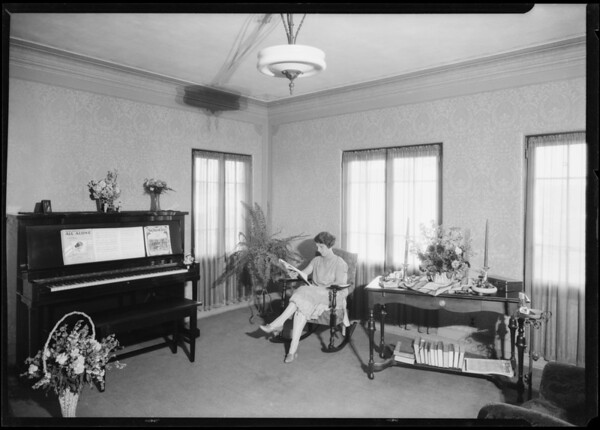 Interiors of Eastman Apartments, Southern California, 1926