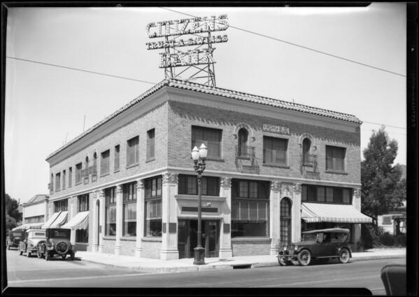 Citizens Trust & Savings branch at Western Avenue & Virginia Avenue, Los Angeles, CA, 1927