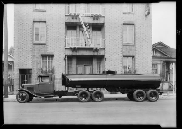 8 wheel tank trailer, Southern California, 1932