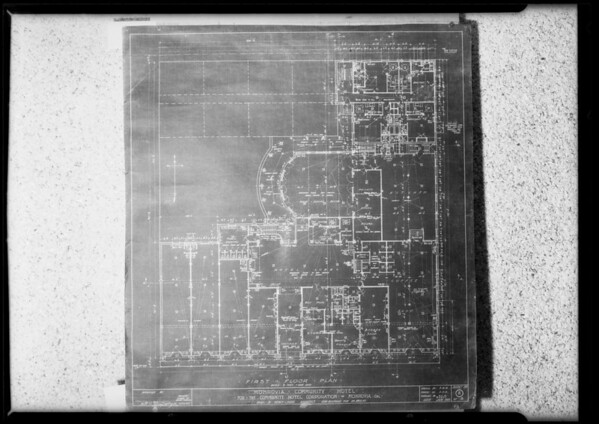 Blueprints of Monrovia Community Hotel, Southern California, 1925