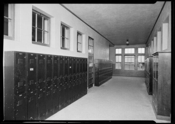 Wosley Co. lockers at Foshay Junior High, Los Angeles, CA, 1925