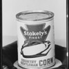 Stokely's corn, pillow and medals, Safeway, Southern California, 1933