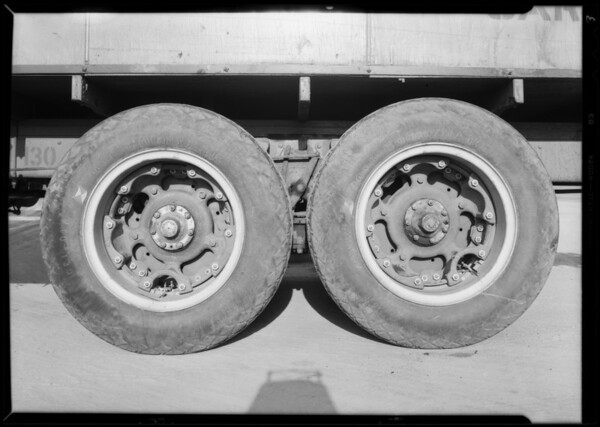 Pacific Freight Lines trucks, Southern California, 1931