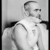 Mr. Miller in plaster cast, Southern California, 1933