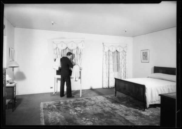 Removable windows in home furnishing rooms, Los Angeles, CA, 1933