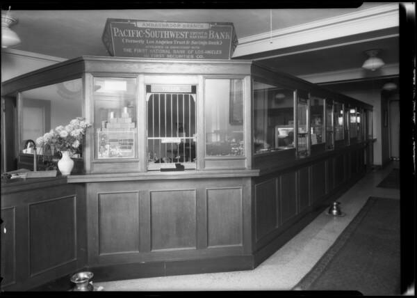 Pacific Southwest Bank, Ambassador Branch, Southern California, 1924