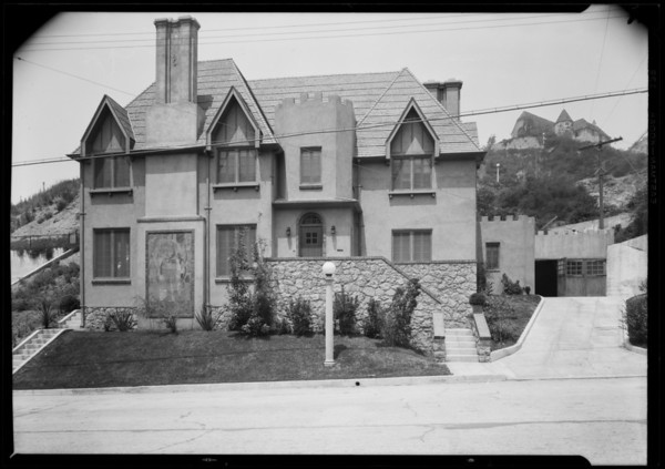 Home, castle architecture, 2925 North Beechwood Drive, Los Angeles, CA, 1926