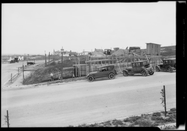 Home construction in View Park, Los Angeles, CA, 1928