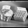 Box and basket of candies, Southern California, 1934