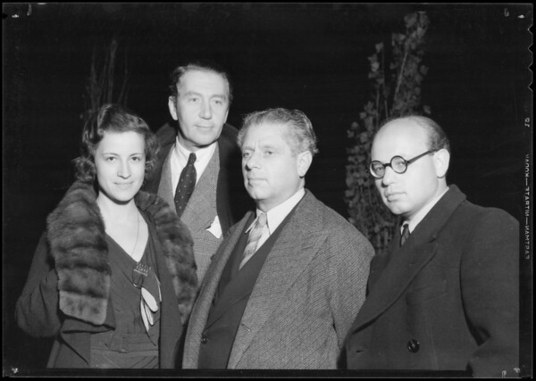 Group: Sibley, Ree, Reinhardt, & Weisberger, Southern California, 1934