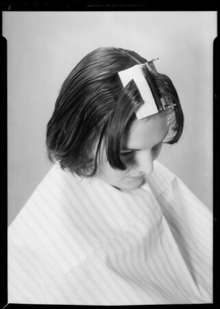 Hair dressing, Southern California, 1934