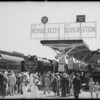 Old time locomotives, Chicago World's Fair, Chicago, IL, 1933-1934