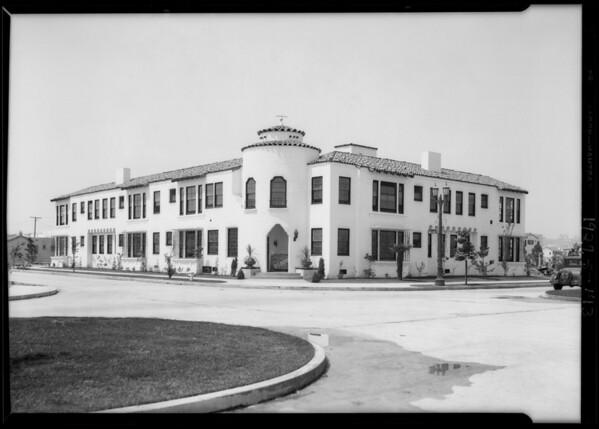 Boshes Apartment House, 4201 7th Avenue, Los Angeles, CA, 1929