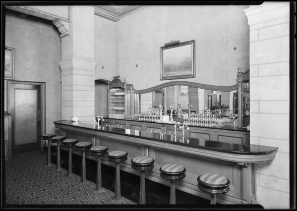 Edgewater Club interiors, Lockwood Shackelford Commercial Fixture Company, Santa Monica, CA, 1925