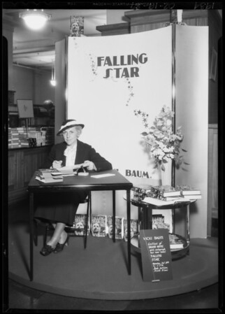 Author, Vicki Baum, Southern California, 1934