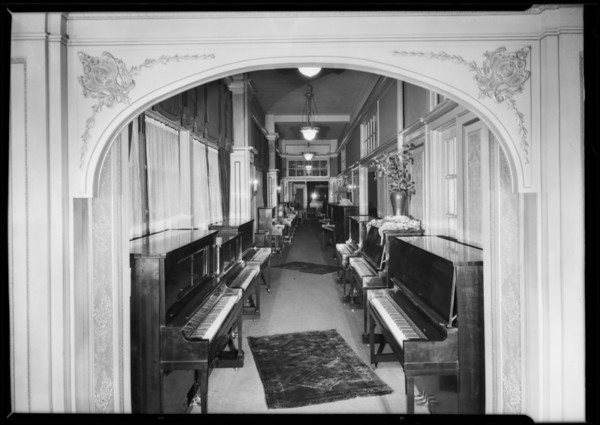 Piano department store, Los Angeles, CA, 1926