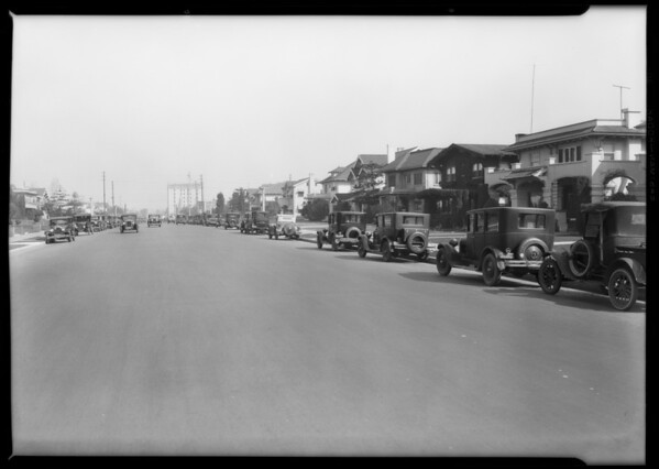 A block of 1600 Crenshaw Boulevard, Los Angeles, CA, 1928