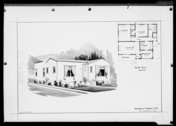 Architectural drawings, Southern California, 1926