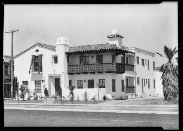 Leimert Park houses and flats, Los Angeles, CA, 1928