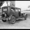 Dodge sedan, Mr. Ake - owner & intersection of Federal Avenue & Iowa Avenue, Southern California, 1932