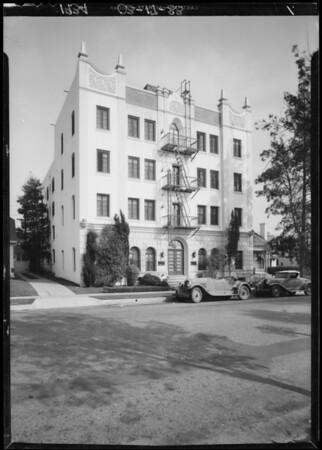 Salona apartments, 1726 North Kenmore Avenue, Los Angeles, CA, 1934