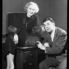 Murray & Jeny with small radio, Southern California, 1933