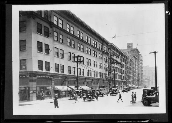 Buildings downtown, Los Angeles, CA, 1927
