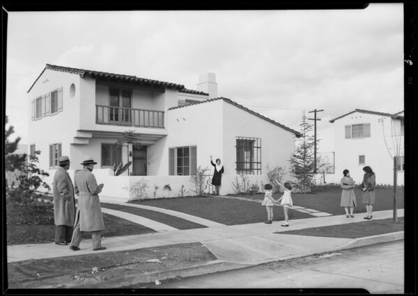 Publicity shots for home shows, Southern California, 1930