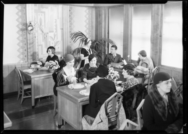 Garage, tea room, and beauty parlor, Southern California, 1933