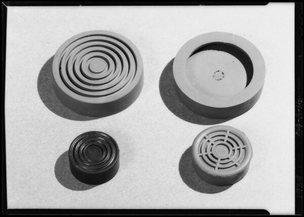 Assorted rubber articles, Southern California, 1934