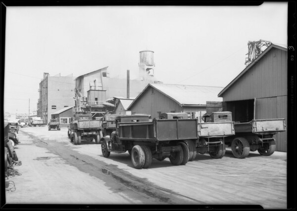 Gravel crusher insurance, Southern California, 1931